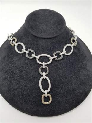 Simon G 18K Gold MultiColored Diamond Necklace