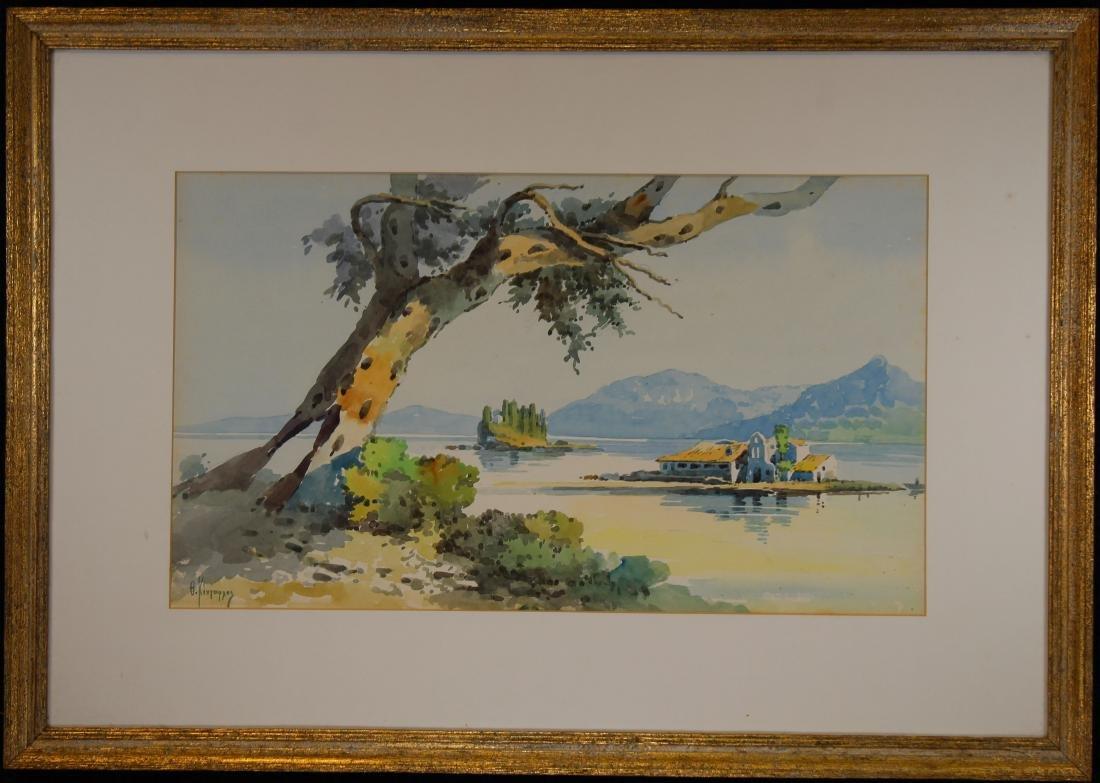 Russian School, Signed 20th C. Coastal Painting