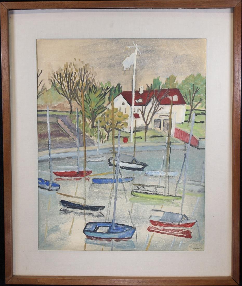 Yeoman, Signed 20th C. Harbor Scene