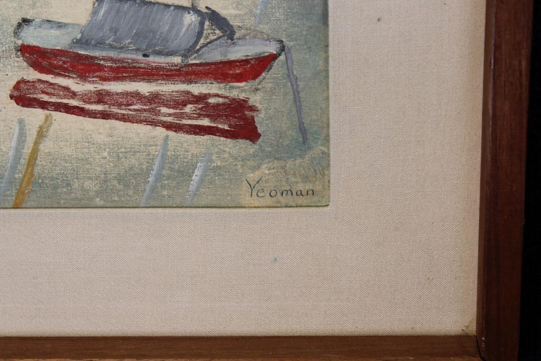 Yeoman, Signed 20th C. Harbor Scene - 3