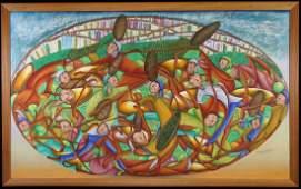 Baptiste, Signed Haitian School Figural Painting