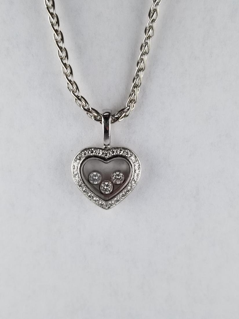 Chopard Happy Diamonds White Gold Heart Necklace
