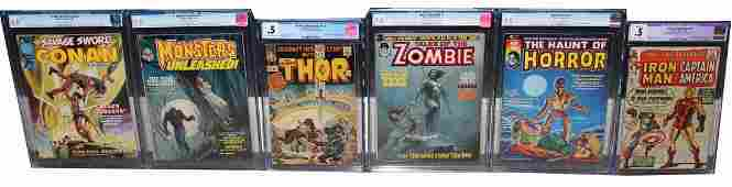 6 CGC Graded Marvel Comic Books