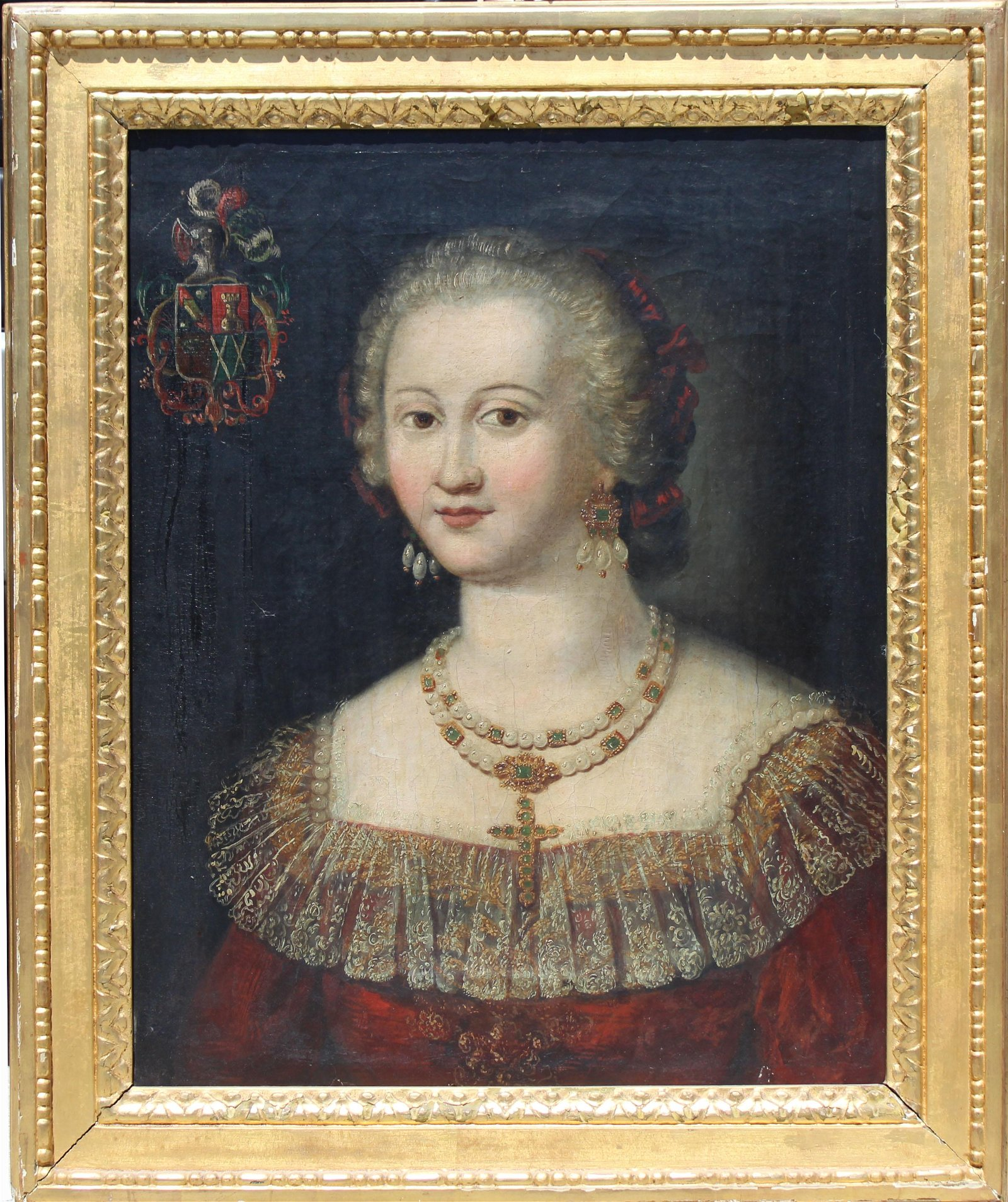 17th C. Spanish School Portrait of a Woman