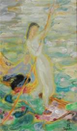 """Le Pho (1907 - 2001) """"La Cueillette Des Lotus"""""""