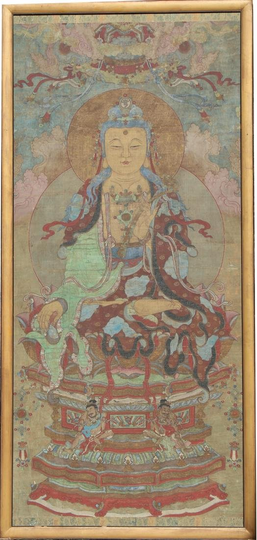Monumental 18th C. Tibetan Thangka