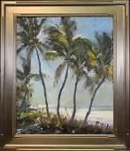 Robert Charles Gruppe (B. 1944) Florida Palms