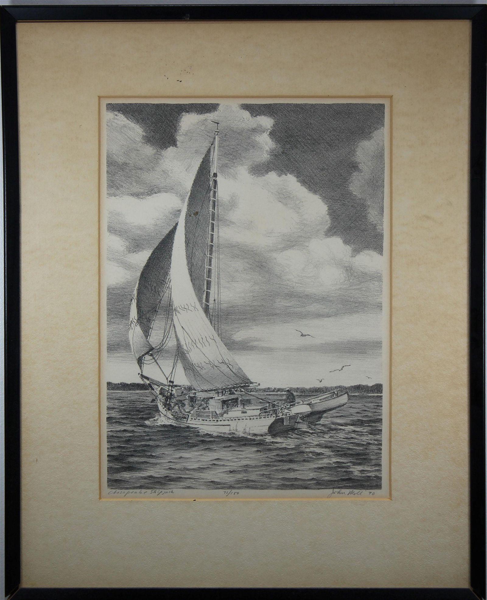 "John Moll (1910 - 1991) ""Chesapeake Shipjack"""