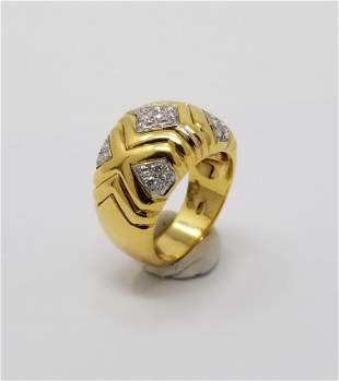 Wempe 18K Gold Diamond Ring