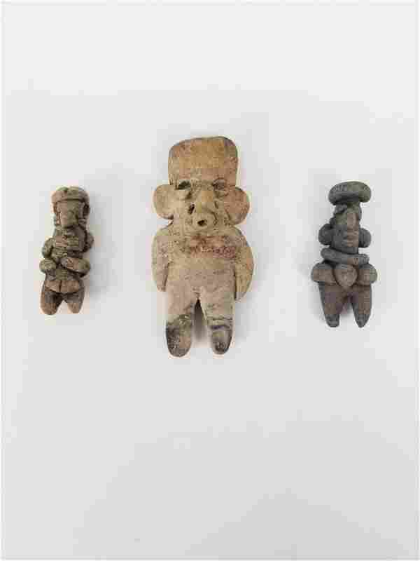 (3) Chupicuaro Figures - Mexico, ca. 400 – 100 BC