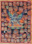 Antique Figural Tibetan Thangka