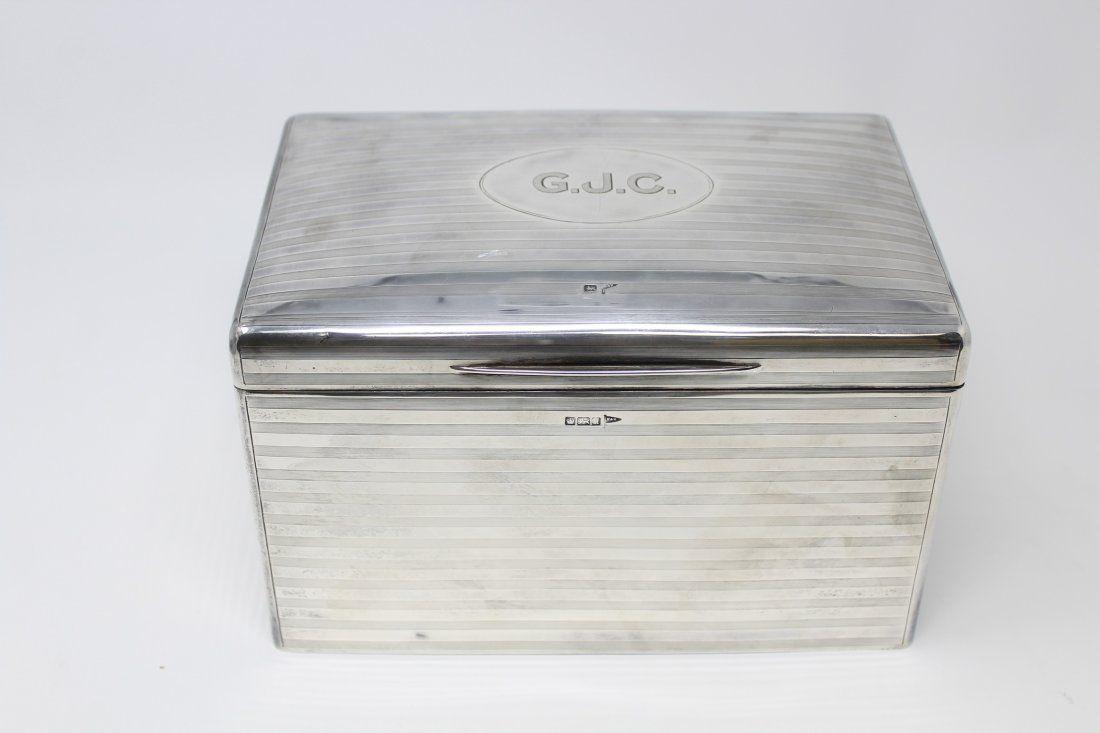 Art Deco Walker & Hall Sterling Silver Humidor