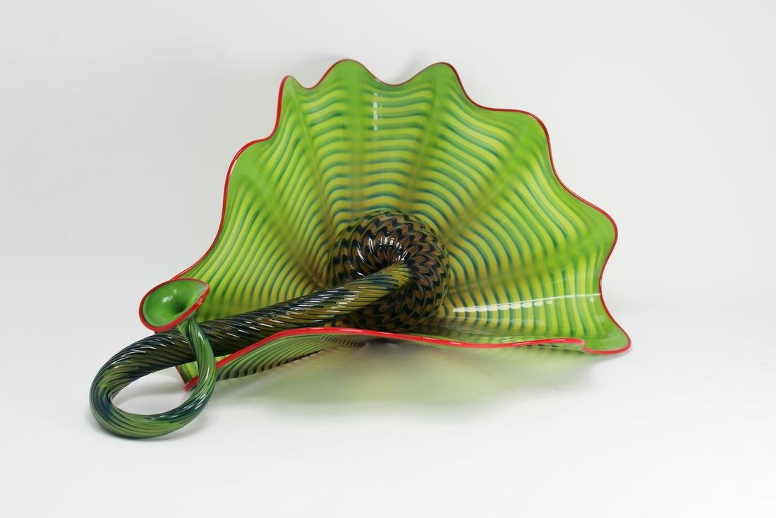 """Dale Chihuly (American, b. 1941) """"Two Chartreuse"""""""