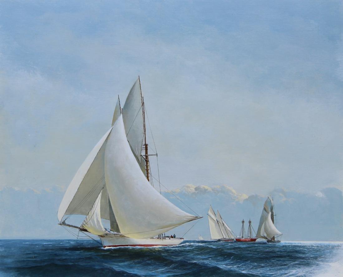 "Charles J Lundgren (1911 - 1988) ""America's Cup"""