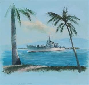 "Charles J Lundgren (1911 - 1988) ""U.S.S. Honolulu"""