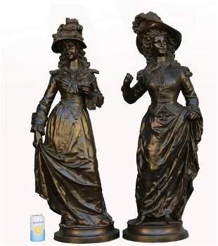 (2) Ernest Rancoulet (1870-1915) Monumental Bronzes