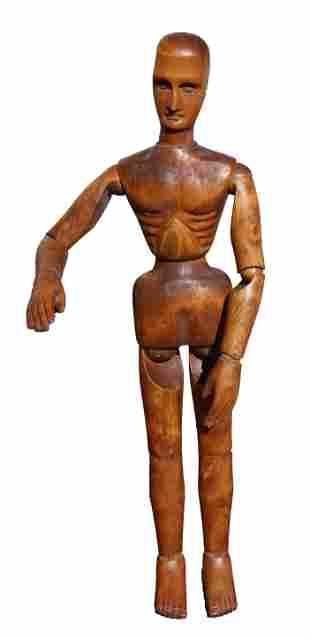Vintage Spanish Articulated Artist Mannequin