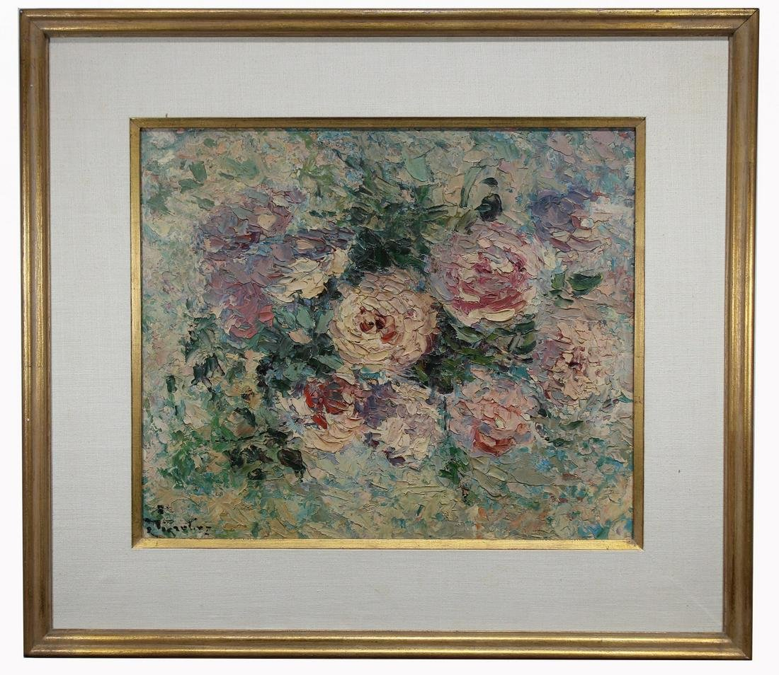 Signed, 20th C. Impressionist Still Life Painting