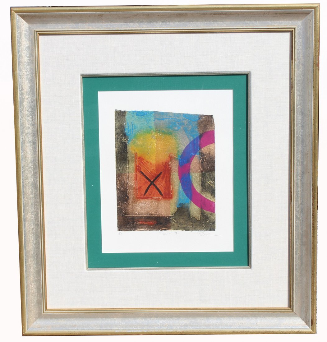 Framed, Signed Abstract Artist Proof Lithograph