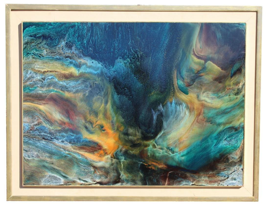 """Leonardo Nierman (born 1932) """"Poem to the Sea"""""""
