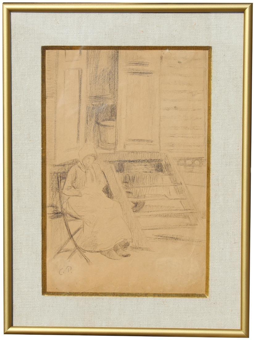 Camille Pissarro (1830 - 1903) Pencil Drawing