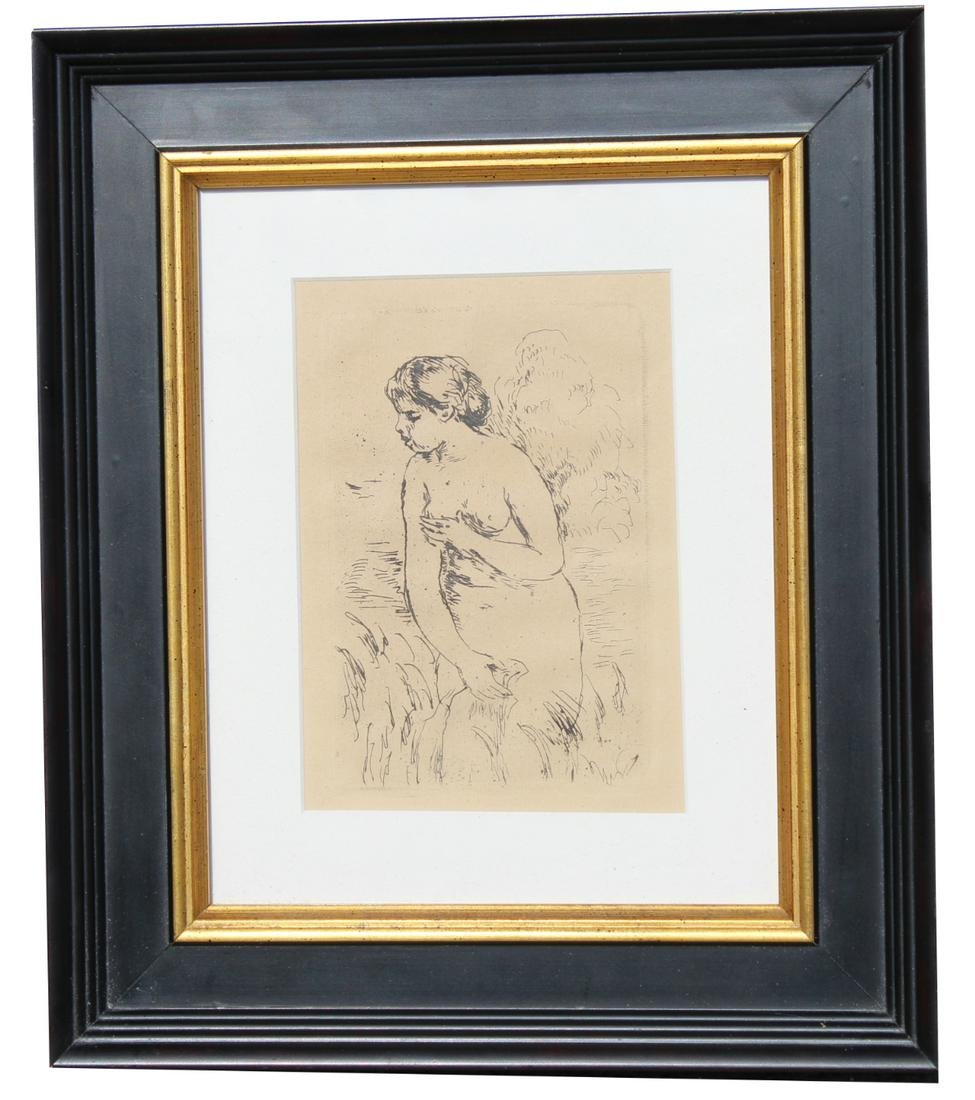 "Pierre Renoir (1841 - 1919) ""The Bather"" Etching"