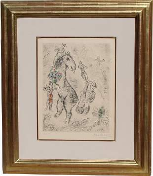 Marc Chagall (1887-1985) Etching