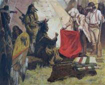 """Shannon Stirnweis  (B 1931) """"Trading w the Indians"""""""