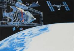 "Dean Ellis (1920 - 2009) ""US/USSR Astronauts Mars"""