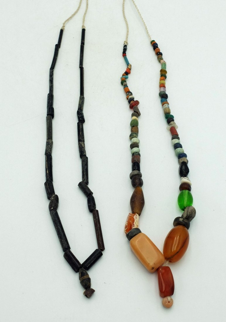(2) Necklaces w Assorted Roman, Indus Valley Beads