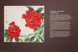 "Ren Yu (B. 1945) ""Lion Head Camellias"""