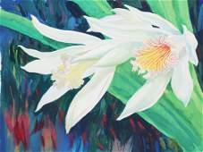 "Ren Yu (B. 1945) ""Thunia alba Orchid"""