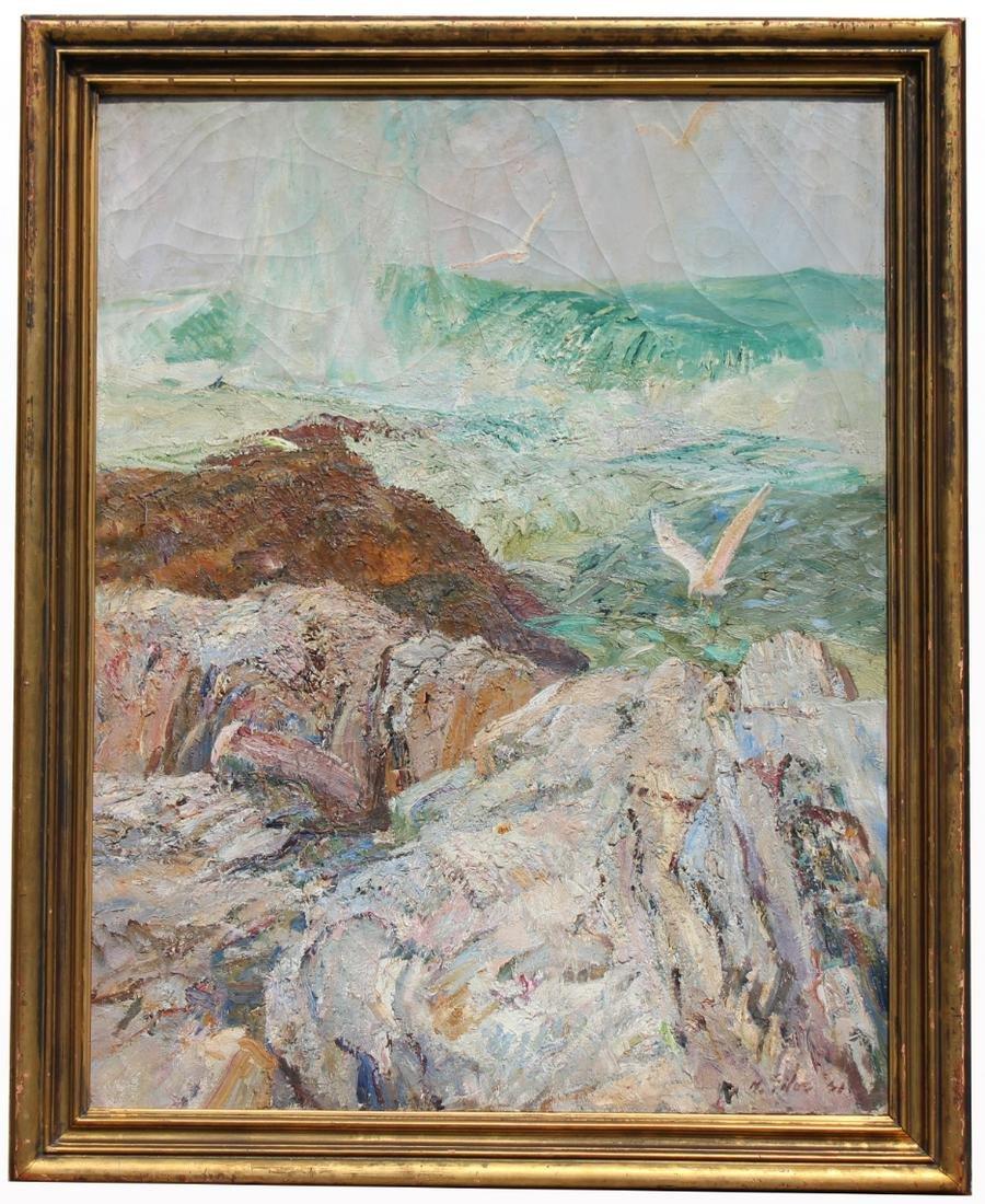 Howard E. Giles (1876 - 1955) Important Seascape