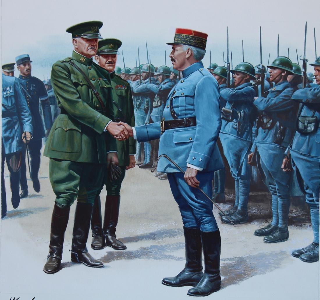 """Morton Kunstler (B. 1931) """"General Pershing"""""""