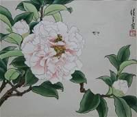 "Ren Yu (B. 1945) ""Peony Camellia"""