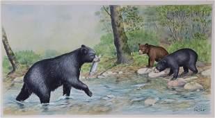 """Peter Barrett (B. 1935) """"Baby Bear"""""""