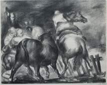 """Jon Corbino (1905 - 1964) """"Escaped Bull"""""""