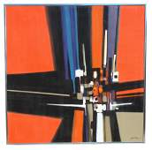 John Dineen (20th C.) Monumental Abstract Painting