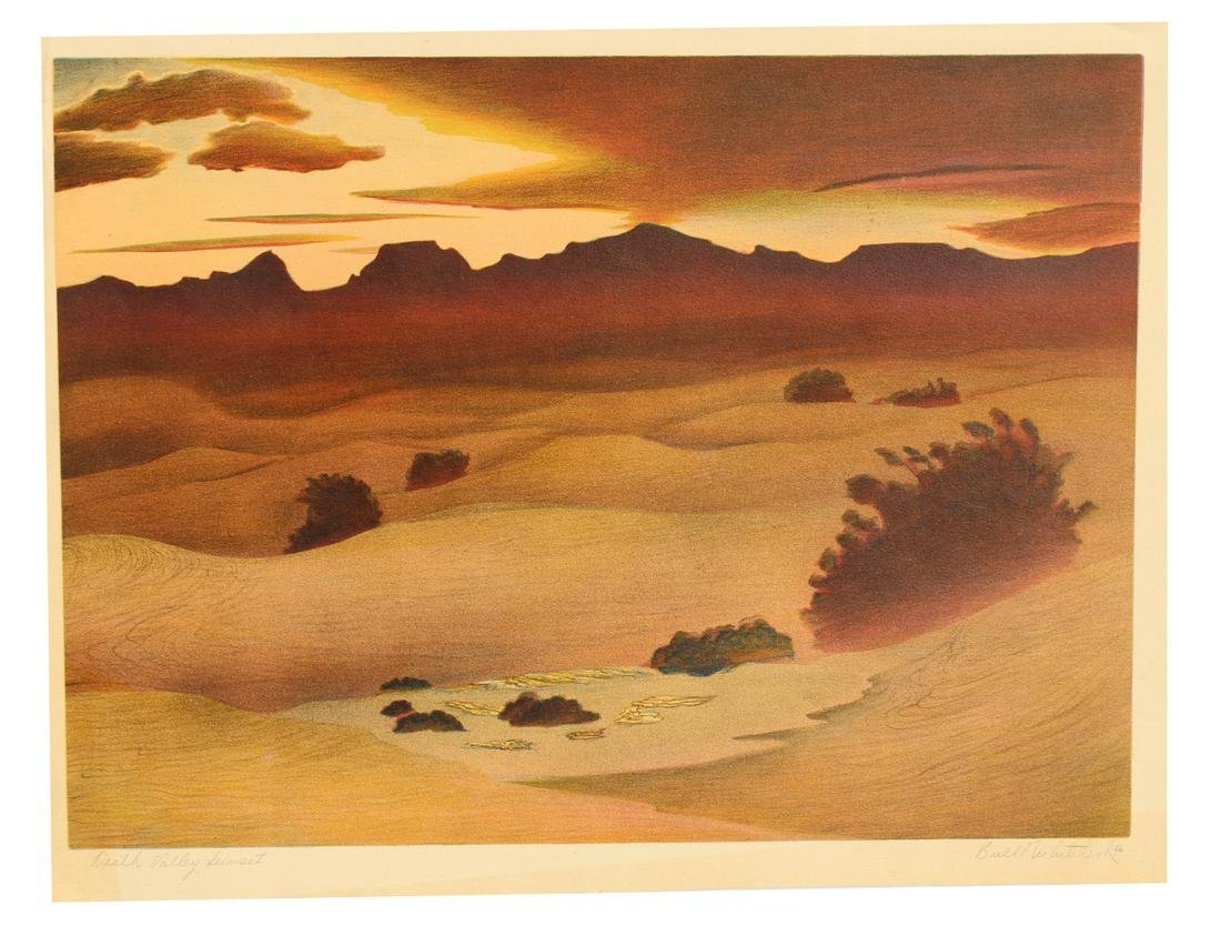 """Buell Whitehead (1919-1993) """"Death Valley Sunset"""""""