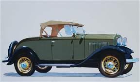 "Robert Seabeck (B. 1945) ""1932 V-8 Sport Roadster"""