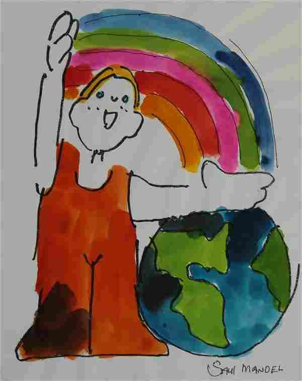 """Saul Mandel (1926 - 2011) """"Earth Day - Clean Air"""""""