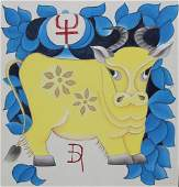 """Zu Tianli (Chinese, 20th C.) """"Year of the Ox"""""""