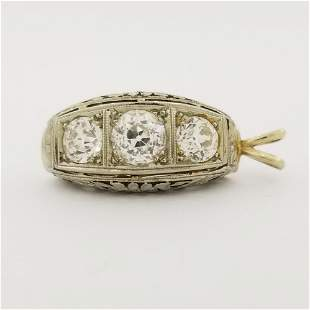 18K WG 3-Stone Diamond Pendant