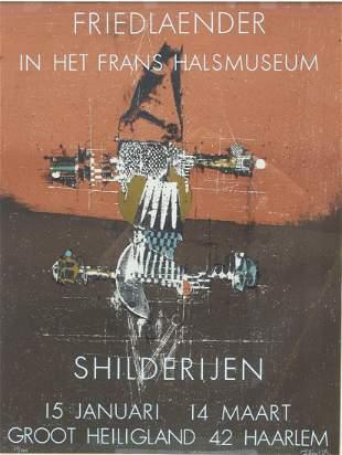 Johnny Friedlaender Exhibition Poster