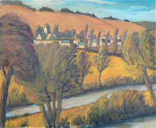 French School, 20th C. Landscape Painting