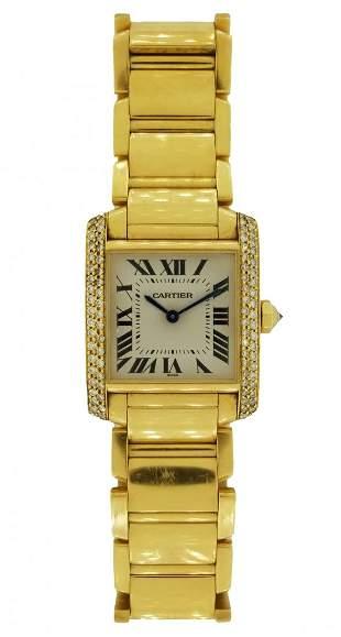 Cartier 18K Tank Francaise Watch