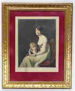 After Jacques Louis David Aquatint