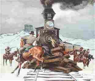 "David K. Stone (1922 - 2001) ""Train Robbery"""