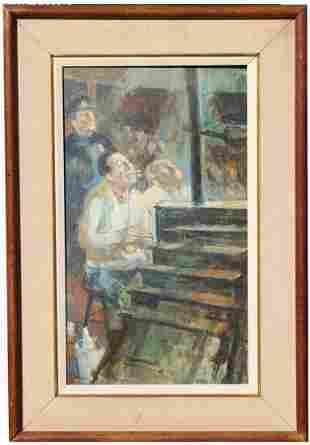 Russell Hoban 19252011 1961 Ringside Painting