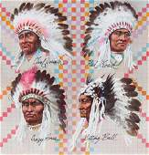 Tom McNeely (B. 1935) Great American Indian Chiefs